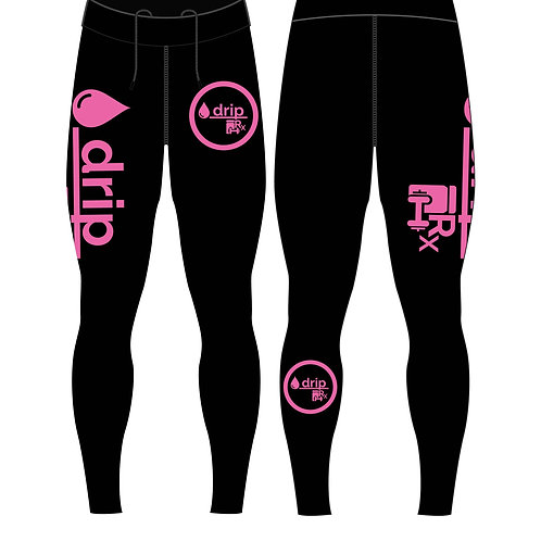 High Performance Compression Training/Recovery Leggings/Spats [Pink/Black]