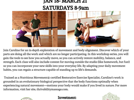 Movement Classes coming in 2020!