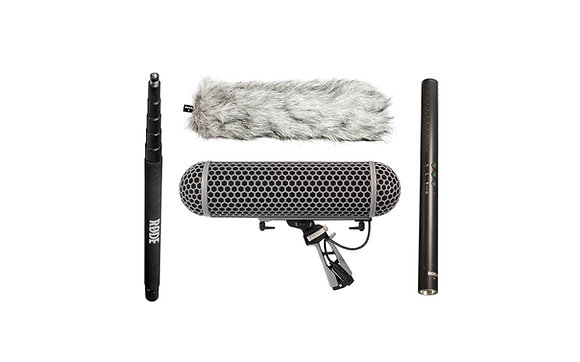 Rode NTG4+ Shotgun Microphone with Blimp and Boom Pole