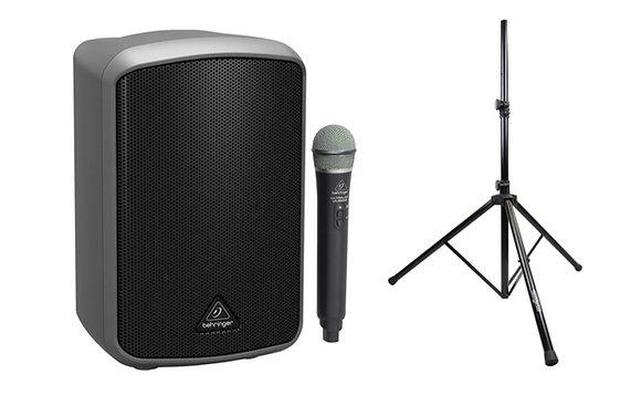 Behringer EUROPORT MPA100BT Speaker + Wireless Microphone + Speaker Stand