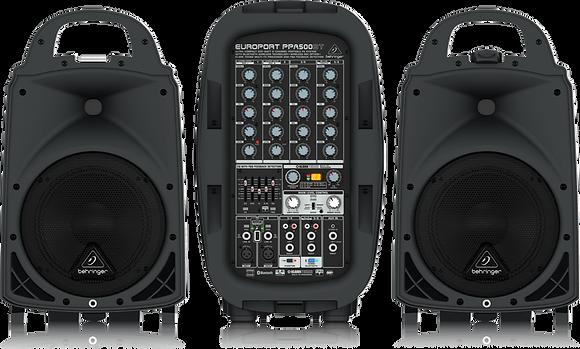 Behringer EUROPORT PPA500BT 2 Speaker Set + 2 ULM20 Wireless Microphone