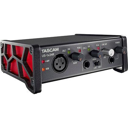 Tascam US-1x2HR Desktop 2x2 USB Type-C Audio Interface