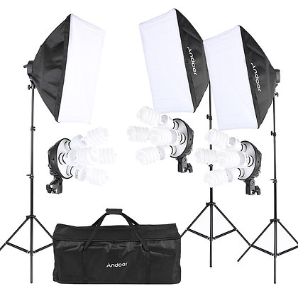 3 x Studio Light Bundle Kit