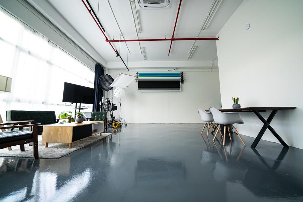 Wide angle of Studio