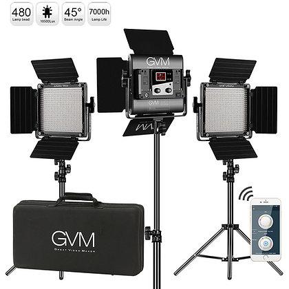 GVM 560AS Bi-Color LED 3-Panel Light Kit