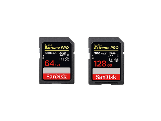 SanDisk Extreme Pro SD UHS-II Memory Cards 64/128GB 300mb/s