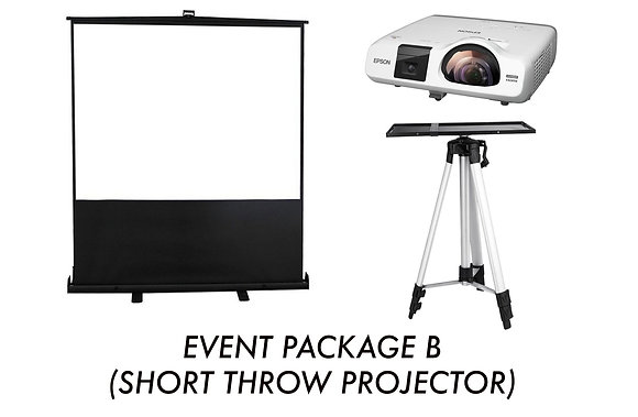 Event Package B (Short Throw Projector)