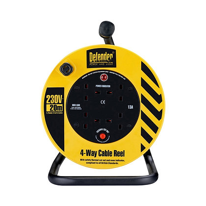 Defender Industrial Cable Reel 20M