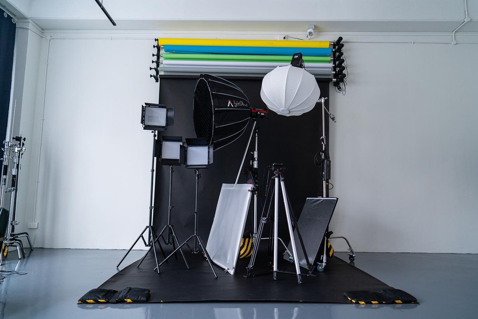 Studio Equipment with backdrop
