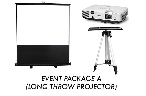 Event Package A (Long Throw Projector)