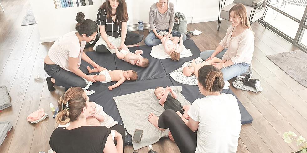סדנת עיסוי תינוקות להורים בהדרכת לילך צוברי