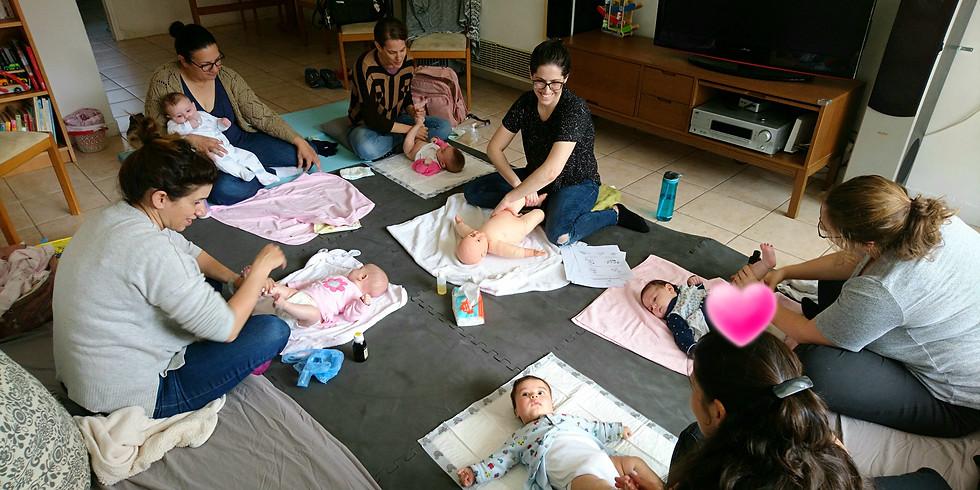 סדנה לעיסוי תינוקות בהנחיית עדי זהר בתל אביב