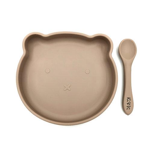 Teddy Bear Plate and Spoon