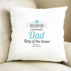 King of the House Dad - Velvet Cushion