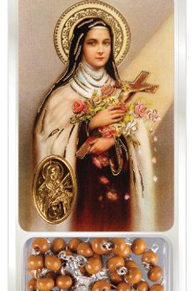 Saint Theresa - Rosary & Prayer Card