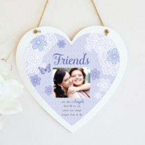 Friends - Blue Hanging Heart  - Photo