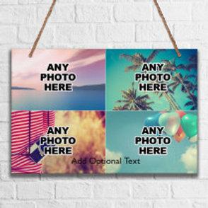 Metal Hanging Sign - Four Photos
