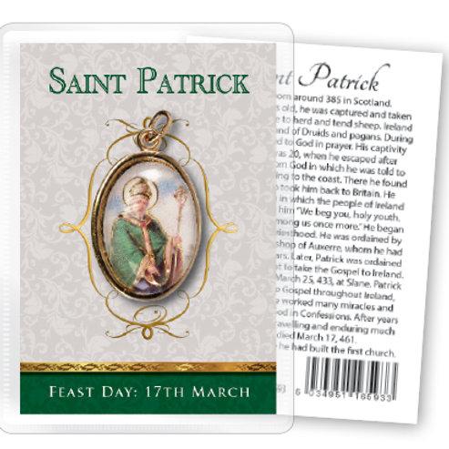 Saint Patrick- Gilt Medal (Gold) & Leaflet