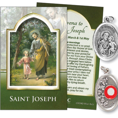Saint Joseph - Relic Medal & Prayer