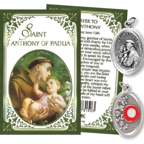 Saint Anthony - Relic Medal & Prayer