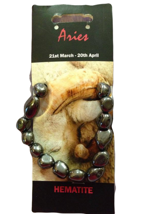 Hematite Bracelet - Aries Zodiac Sign
