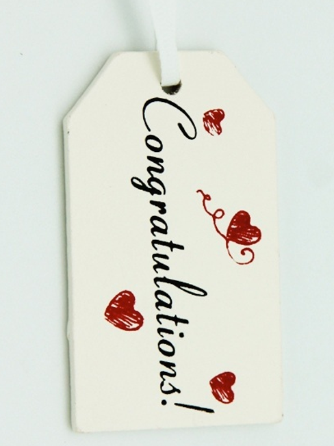 Congratulations wooden gift tag