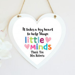 Little Minds Hanging Heart -  Name Only