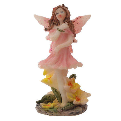 Meadow Flower Fairy Figurine Pink