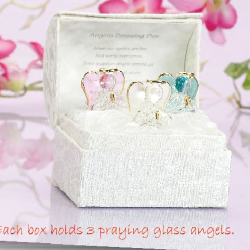 3 glass angels blessings box