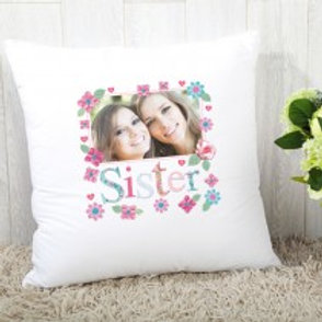 Sister Floral - Velvet Cushion - Photo Only