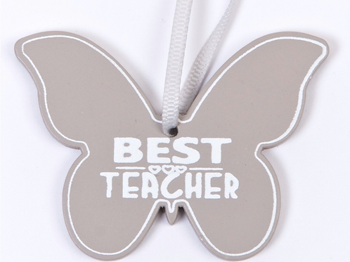 Best Teacher wooden gift tag