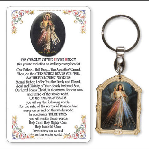 Divine Mercy - Keyring and Card