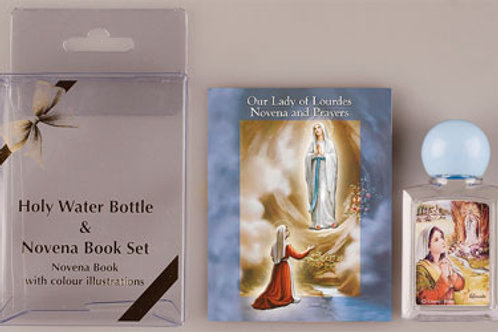 Our Lady of Lourdes - Holy Water Bottle & Novena