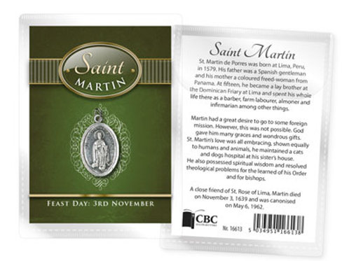 Saint Martin - Medal (Oxidised) & Leaflet