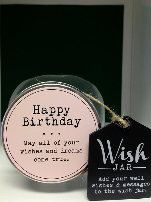 HAPPY BIRTHDAY WISH JAR