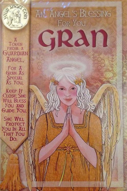 Gran - Angel Coin Card