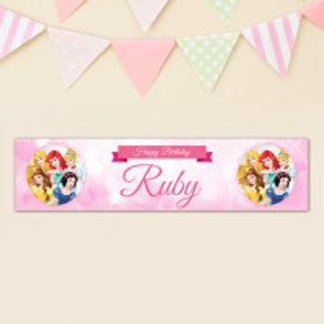 Disney Princesses Banner - Name
