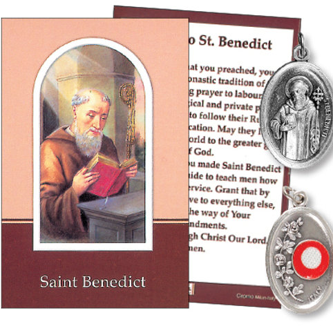 Saint Benedict - Relic Medal & Prayer