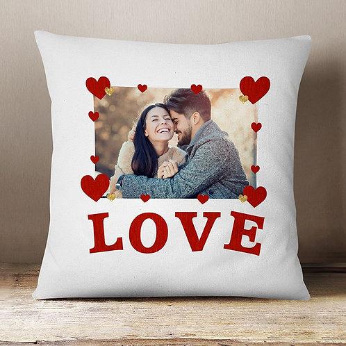 Love - Velvet Cushion One Photo