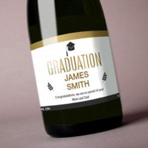 Gratuation- Bottle / Candle Label - Name
