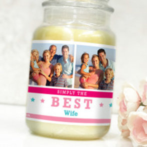Best Wife - Bottle / Candle Label - Photo & Text