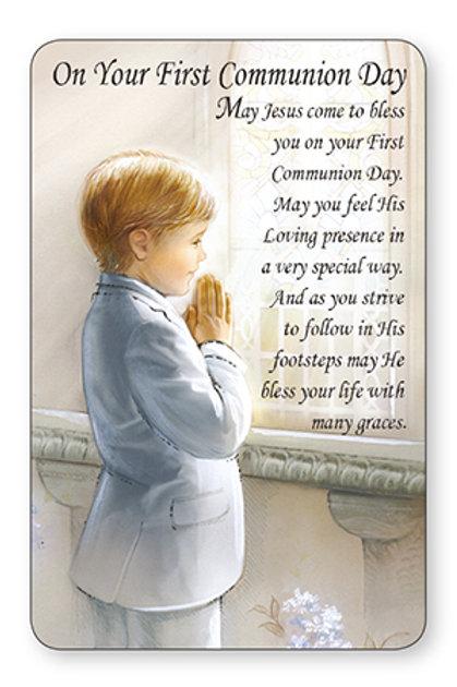 First Holy Communion Pocket Card - Boy