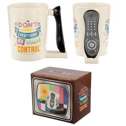 TV Remote Control Shaped Handle Ceramic Mug
