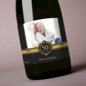 50 Years - Bottle / Candle Label - Names & Photo