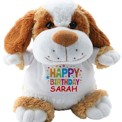 Personalised Dog Teddy Happy Birthday