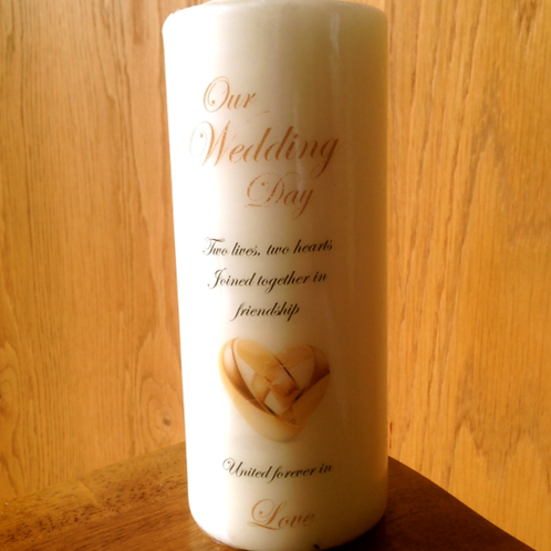 wedding candle with rings style 2 - generic
