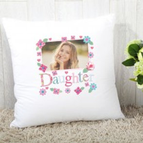 Daughter Floral - Velvet Cushion - Photo Only