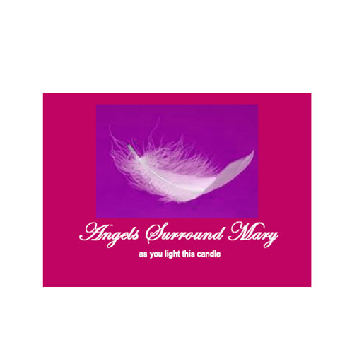 Angels Surround (your name) Personalised Label - as you light this candle