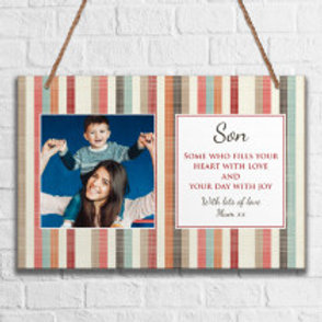 Son - Metal Hanging Sign - Photo & Text