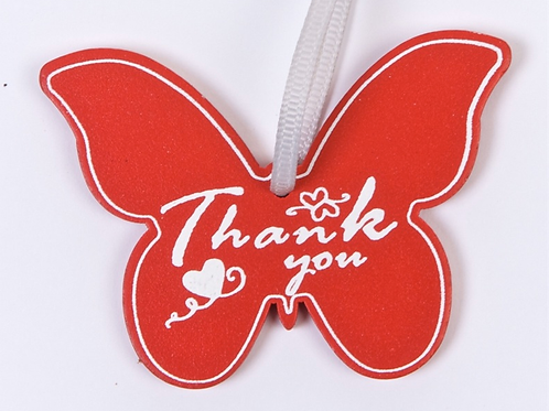 Thank you wooden gift tag